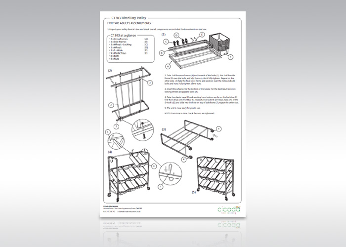 Assembly Instruction Illustration Service